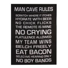 Mancave Rules Tea Towel