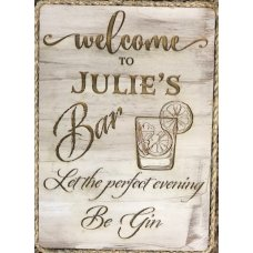 Personalised Gin Plaque