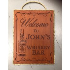 Personalised Whiskey Bar Plaque