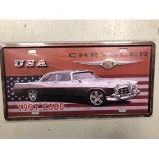 Chrysler License Plate Metal Sign