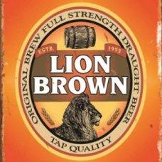 Lion Brown Tin Sign