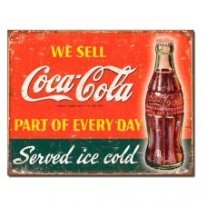 Coca Cola - Part of everyday tin sign