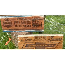 Personalised Rimu Signs
