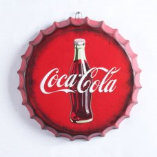 Coca Cola Bottle Top Metal Sign