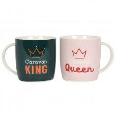 Caravan King & Queen Mug Set