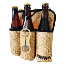 Six Pack Moana Road Flax Holder with Bottle Opener