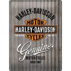 Harley Davidson Corrugated Tin Sign