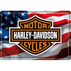 Harley Davidson USA Logo Tin Sign