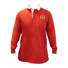 Lion Red Retro Rugby Shirt