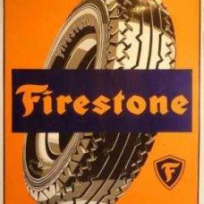 Firestone Retro Tin Sign