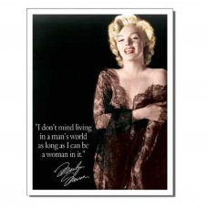 Marilyn Monroe a Man's World Tin Sign - Tin Signs