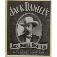 Jack Daniels Cameo Tin Sign
