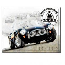 Cobra 50th Anniversary Tin Sign - Tin Signs