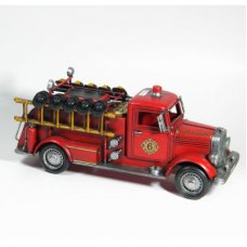 Fire Truck with Helmets