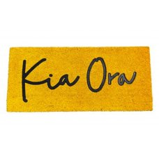 Large Kia Ora Yellow Doormat by Moana Road