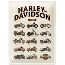 Harley Davidson Models Sign