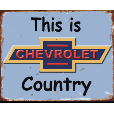 Chev Country Tin Signs