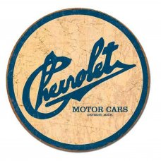 Chevrolet Round Tin Sign