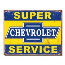 Chevrolet Super Service - Tin Signs