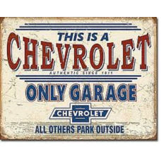 Chevrolet Garage - Tin Signs