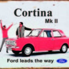 Ford Cortina Mark II - TIN SIGNS