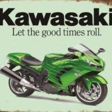 Kawasaki Tin Sign