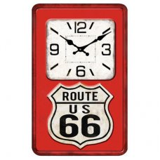 Route 66 Glass Clock