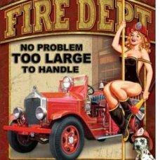 Fire Department Tin Sign - Tin Signs
