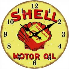 Shell Motor Oil Clock