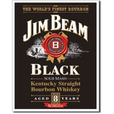 Jim Beam Black Tin Sign