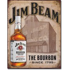 Jim Beam Still House Tin Sign
