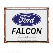 Ford Falcon Rustic Tin Sign - Tin Signs