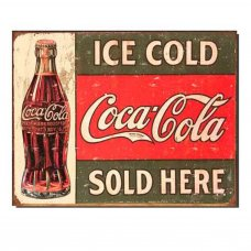 Coca Cola 1916 Metal Tin Sign