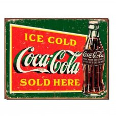 Coca Cola Green Retro Tin Sign