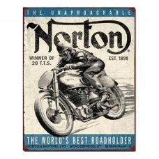 Norton Winner Tin Sign